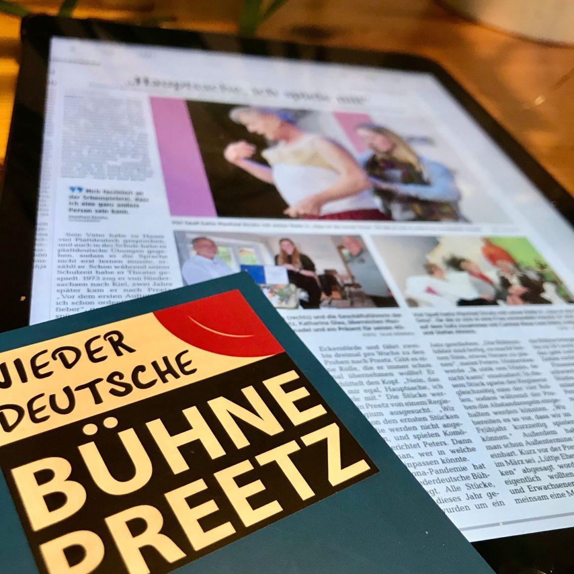 Heute gibt es in den Kieler Nachrichten einen sehr schönen Artikel von Silke Rönnau zum Bühnenjubiläum von Manfred Struhs und über die vielen Erlebnisse in unserem Verein.#Zeitung #Jubiläum #GrundzumFeiern #Freude #Niederdeutschebühne #Preetz